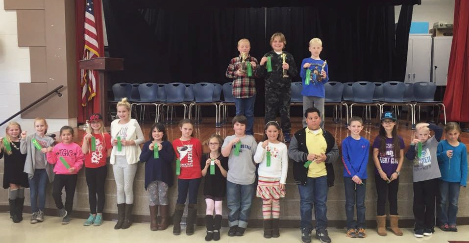 Picture of Spelling Bee Participants and winners
